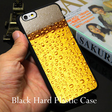 Oie A Glass Of Beer Cool Black Phone Case for iPhone 5S 5 SE 5C 4 4S 6 6S 7 Plus Cover ( Soft TPU / Hard Plastic for Choice )