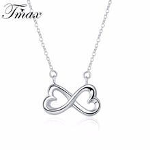 Hot Marketing 8 Word-bow-knot Pendants Necklaces Fashion Silver Plated Rolo Chains Cute Bone Unique Jewelry For Women HFNE0751