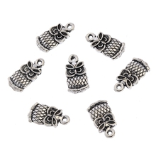 Buy DIY Wholesale Charms 30pcs Retro Tibetan Antique Silver Animals Owl Charm Pendant Jewelry Findings Making 15x7mm Ne042 for $1.49 in AliExpress store
