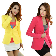 New Women Blazer Spring Slim Top Elegant Double Breasted Short Design Clothes Blazer Suit Female Suit & Women Work Wear(China)