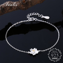 INALIS Cute Bracelet Daisy Flower 925 Sterling Silver Simple Accessories Bracelet for Women Fine Jewelry(China)