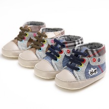 2017 Newest Style Cowboy Hot Sale Lace Up Toddlers Cotton Baby Shoes autumn Baby Moccasins First Walkers Newborn Boots
