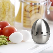ASLT Stainless Steel Cooking Tool Mechanical Egg Kitchen Cooking Timer Alarm Clock 60 Minutes Kitchen Timer Egg for Cooking