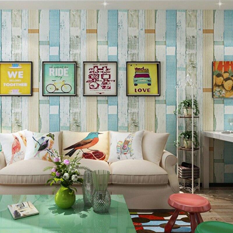 Mediterranean Style Colorful Stripe 3D Wallpaper PVC waterproof Wallpaper papel de pared Mural Wall Paper home decor JR027<br>