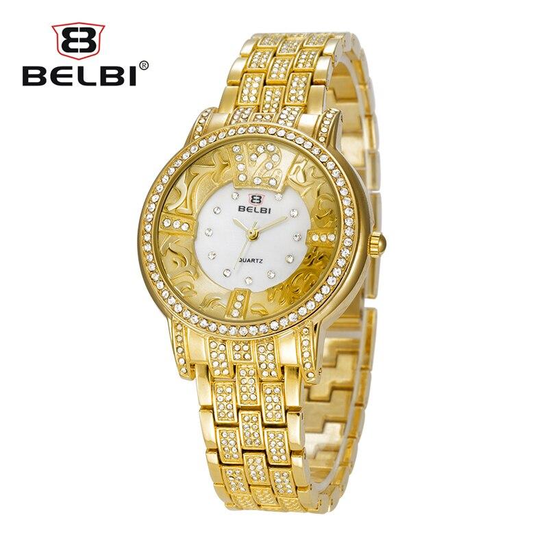 Belbi New Fashion Wristwatch Ladies Rhinestone Shell Dial Dress Steel Strap Quartz Women Watch Luxury Brand Greek Art Girl Watch<br><br>Aliexpress