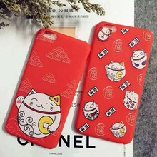 Phone Case for iPhone 6 6S 6plus 6Splus 7 7plus Cute Red Christmas Elk and Socks Trojan Snowflakes Soft TPU Phone Shell