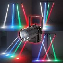 AOBO Lighting 3W Colorful RGB LED Pin Spot Stage Light Disco DJ Show Beam Effect Lighting