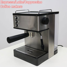 110V or 220V Household Stainless Steel Italian Espresso Milk Froth Latte Cappuccino Coffee Maker Machine for Shop Office