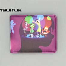 Retail Wholesale Hot Movie Inside Out Logo wallets Purse Multi-Color 12cm Leather Man women New