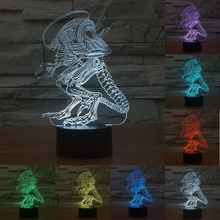 Acrylic Strange people 3D Led light Creative Atmosphere Table Lamp 7 color Touch Switch lamp Gradient Visual night table lamp(China)