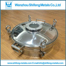 350mm Stainless steel sanitary manhole cover with pressure,with sight glass