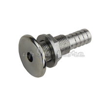 "Free Shipping Stainless Steel Polished Head Barb Thru Hull Fitting Connector for 1/2"" Hose Marine Boat Hardware"