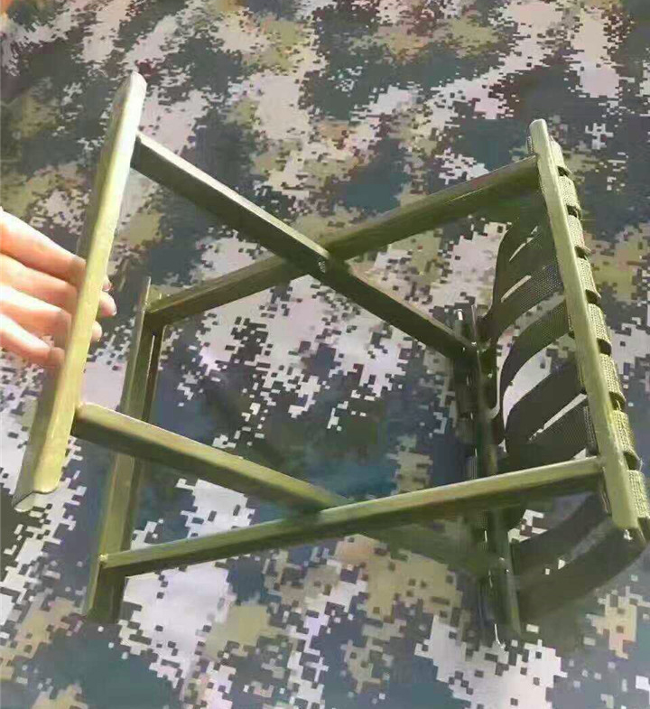 Armies Portable Nail Free Folding Stool Special Outdoor Fishing Camping Thickening Stool Frame Made Of Groove Steel<br>