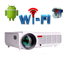 LED96 Android WIFI 3000lumen Video HDMI RCA TV Full HD 1080P Home Theater 3D LED projector Projetor proyector beamer bt96(China)