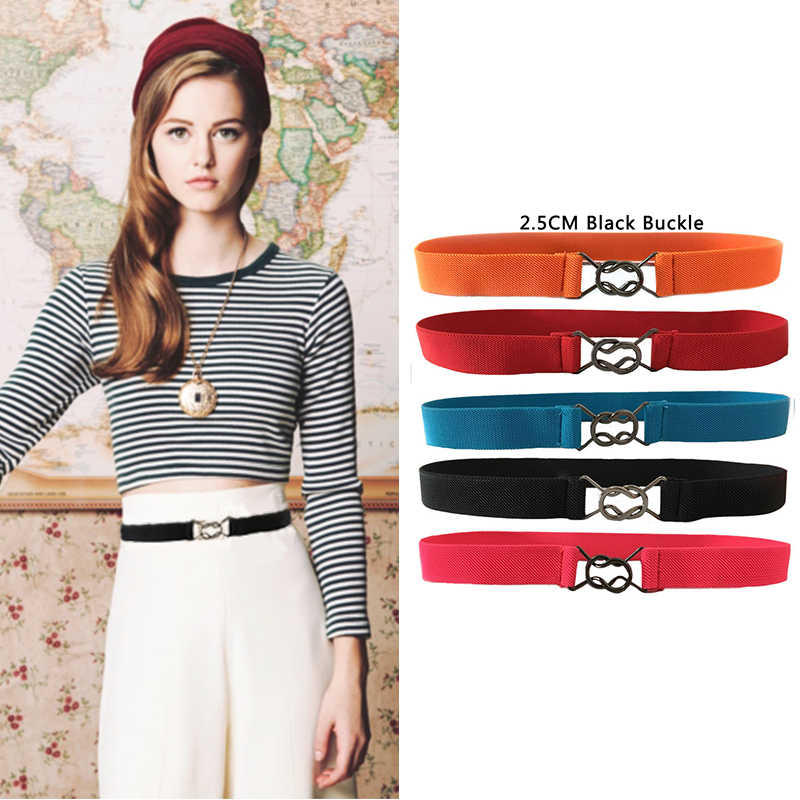 deed8595ed Seabigtoo elastic belt for dresses thin belts female Stretch waist cinch  ladies belts women 2018 decorated