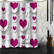 Best Nice Custom Heart Tree Shower Curtain Bath Curtain Polyester Fabric Bathroom Curtain MORE SIZE A6.1-77(China)
