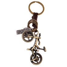 Bronze Plated Bicycle Keychain Bag Keyfobs Llaveros Charm Bike Car Key Chain Ring Holder Novelty Jewelry Souvenirs Gift FY034