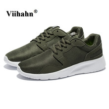 Viihahn Mens Outdoor Casual Shoes Spring And Summer Breathable Mesh Leisure Shoes Lace Up Flats Light New Leisure Shoes