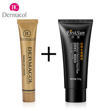 Base Dermacol Pro Concealer Foundation Corretivo Countour Makeup Cream Charcoal Carbonated Bubble Clay Blackhead remover mask(China)