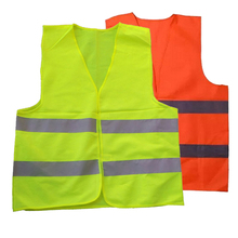 Car Motorcycle Reflective Safety Clothing High Visibility Safety Reflective Hi Viz Vest Warning Coat Reflect Stripes Jacket(China)
