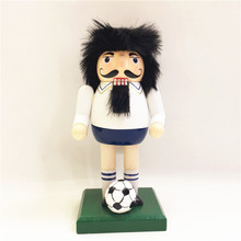 New 18Cm Tall Christmas Holiday Nutcracker Soccer man Vintage German Wooden Table Walnut Toy Zakka Dolls(China)