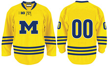 University of Michigan # Custom your name and number Stitched Hockey Jersey