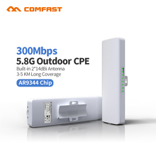 Long Coverage 3-5km siganl amplifier 5.8G 300mbps High Gain Outdoor Wifi repeater COMFAST Outdoor Router Wifi CPE nanostation