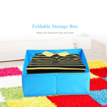 Foldable Storage Box Clothes Underwear Drawer Organizer Polyester Washable Non-woven Fabric Container for Underwear Socks Bras