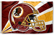 Washington Redskins Helmet Outdoor Indoor American Football Flag 3X5FT Drop Shipping Custom Club Sport Team Flag