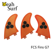 Surfboard FCS Fin G7 Honeycomb LOGO Fiberglass Fin Gray,Orange,Blue,Yellow,Green Surf Board Fin prancha quilhas de