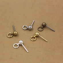 20pcs/lot Silver/Gold Plated Earring Stud Ear Post Nails Ear Jewelry Findings for DIY Stud Earrings(China)