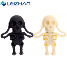 LEIZHAN Skull USB Flash Pen Drive Pendrive Scull Stick 2.0 64g 32g 16g 8g 4gig Computer Memory Card U Disk - HIGHQUAL PRO Store store