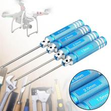Buy 4PCS Hex Screw Driver Tool Kit RC Helicopter Plane Transmitter Cars Blue A676 for $7.73 in AliExpress store