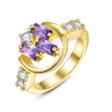 Fascinating Yellow Gold & Rose Gold Bling CZ New Finger Rings For Women Bride Wedding Engagement Bijoux Femme Bague Jewelry