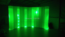 Popular Item Light Curve Inflatable LED Wall  photo room For Office, Trade show,Exhibition Decoration 3.6 m L*2.1 mH