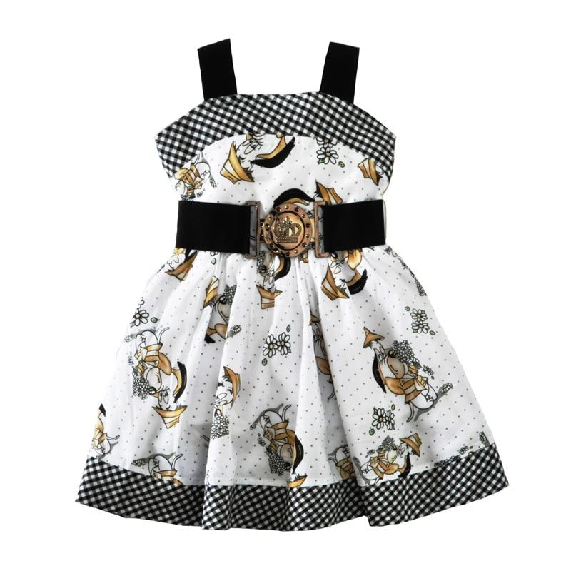 Girls dress Kids Dresses Roupas infantis menina Party dresses Dog printing Vestidos infantil Two layers Sundress with belt<br><br>Aliexpress