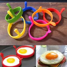 2pcs Silicone Omelette Mould Device Eggs Ring Model Fried Egg Mold Cooking Tools Pancake Molds Ring Kitchen Gadget HG99(China)