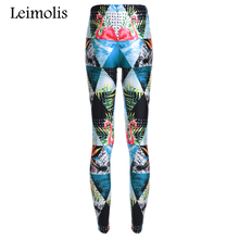 Buy Leimolis 3D printed triangles Flamingo harajuku gothic sexy plus size high waist push fitness workout leggings women pants for $6.56 in AliExpress store