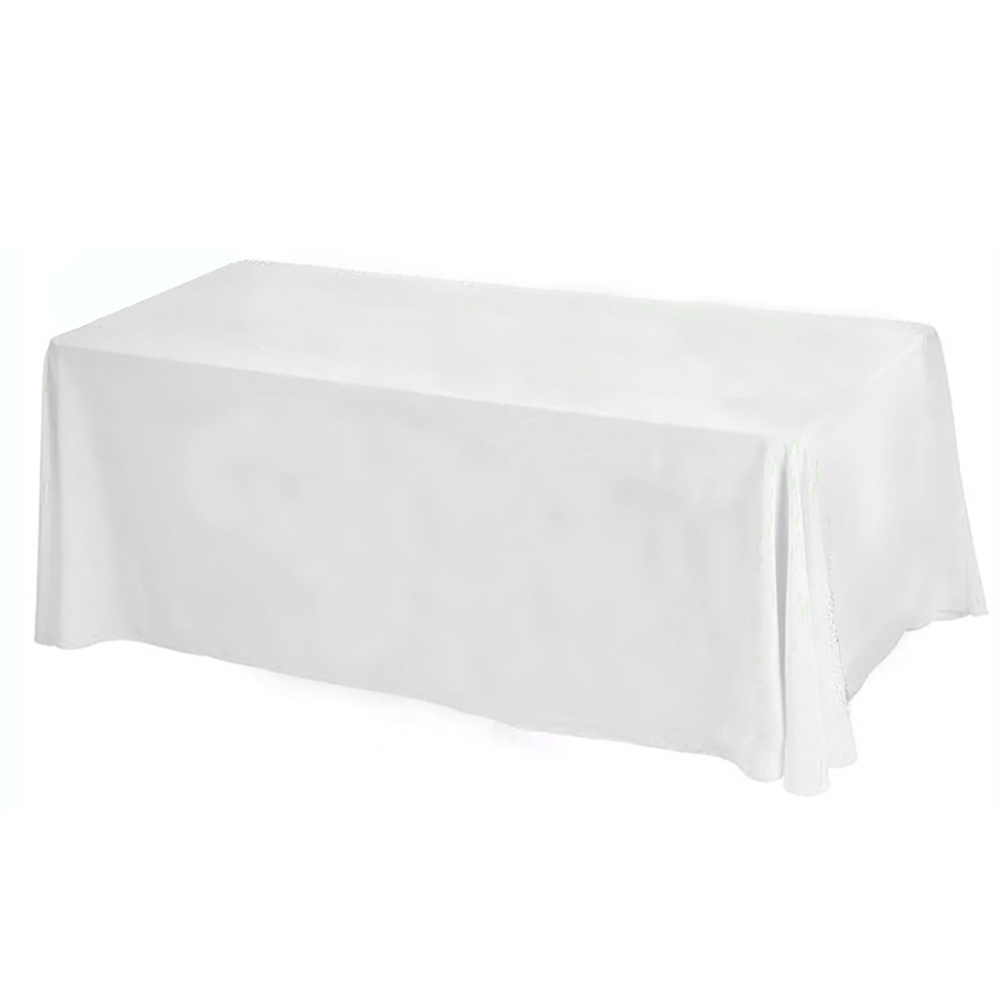 Rectangular Satin Tablecloth Table Cover Skirt for Wedding Party Restaurant Banquet Decorations 10pcs/ Pack 90x132 inch(China (Mainland))
