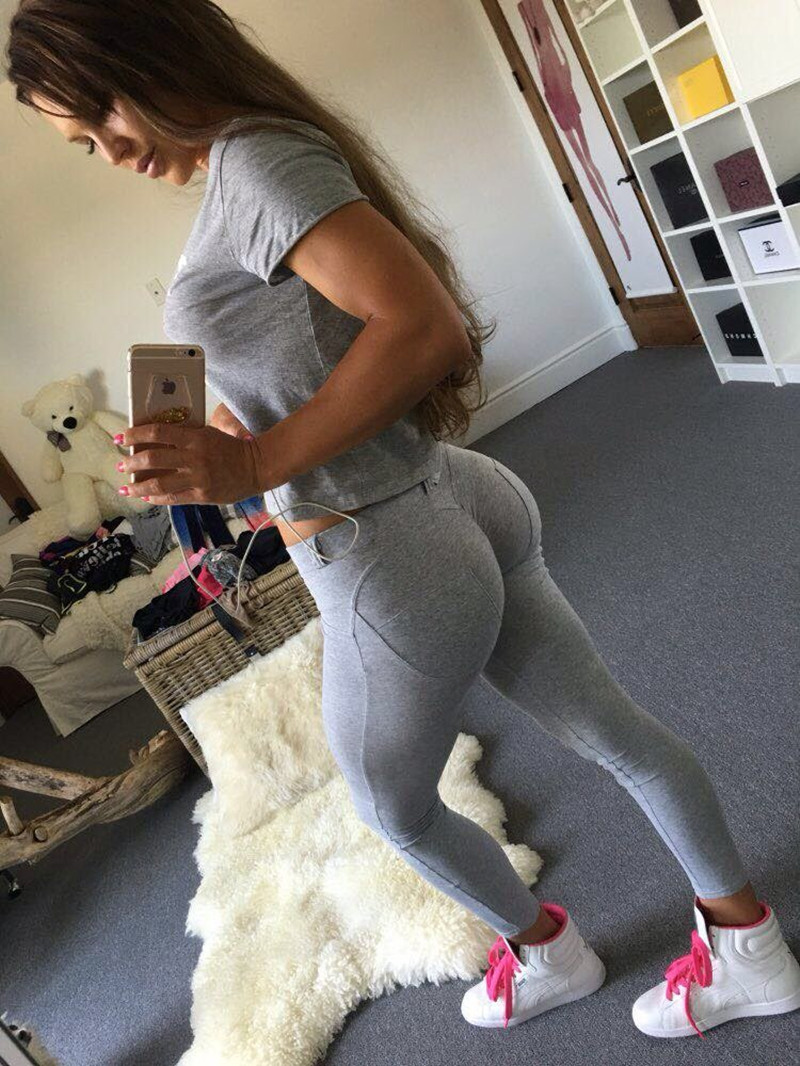 Women Low Waist Pants Push Up Sexy Hip Solid Trousers Leggings