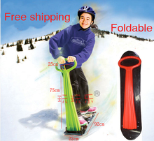 Children's Snow Scooter Skiing Board Snow Tube Sleds Newest ski car fun ice snowboard sledge(China)