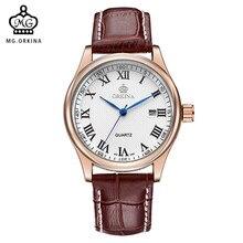 7d8804a7812 ORKINA Rose Case Gold relógio de MIYOTA Movimento Mens Relógios Top Marca  de Luxo Relógio de