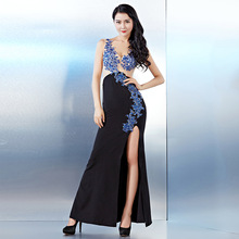 Buy 2017 Sequins Women Summer Split Dresses Sexy Black Bodycon Evening Party Embroidered Lace Mermaid Dress Club Women Long Dress for $95.91 in AliExpress store