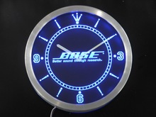 nc0429 Theater Systems Speakers Neon Sign LED Wall Clock