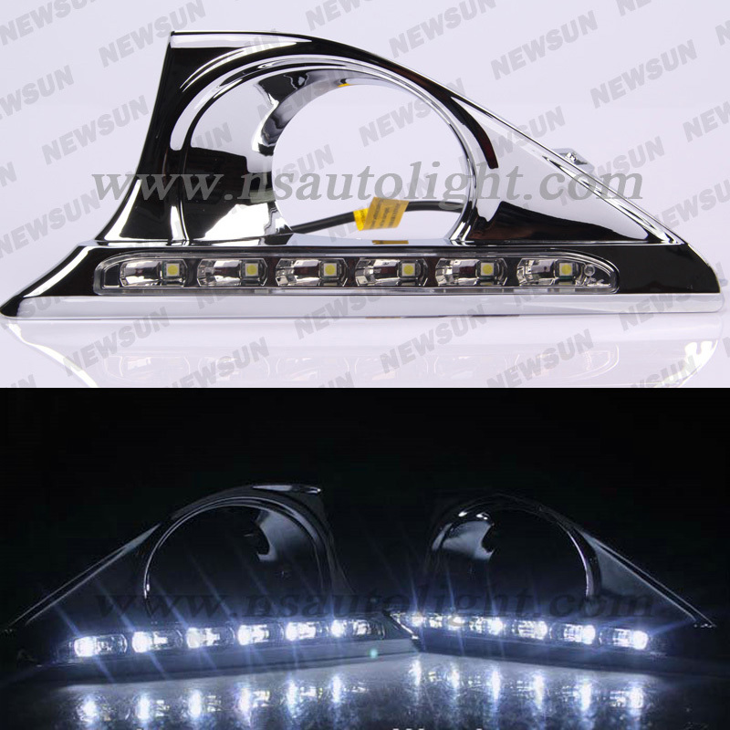 High Power DRL 6 LEDs Daytime Running Light Headlight Car Fog, White led drl driving light for toyota camry 2013 100% Waterproof<br><br>Aliexpress