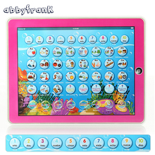 Abbyfrank English Spanish Language Pad Bilingual Educational Study Learning Machines Music Toys Multifunction Tablet Toy Y-pad(China)