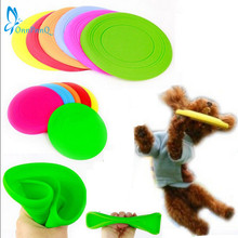 OnnPnnQ Fantastic Pet Dog Flying Disc Tooth Resistant Training Toy Play Frisbee Tide(China)