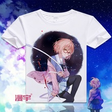 The realm of the other side of the future of the Japanese cartoon costumes comfortable short-sleeved t-shirt(China)