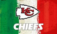 Green white red Stripes Kansas City Chiefs flags 3ftx5ft Banner 100D Polyester Flag metal Grommets 19516(China)