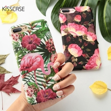 Buy KISSCASE Case iPhone 7 7 Plus Flower Pattern Hard PC Cover iPhone X 8 7 6 S Plus Coque Capinhas Phone Cases Accessories for $2.49 in AliExpress store